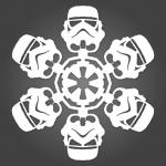 DIY Star Wars Paper Snowflakes