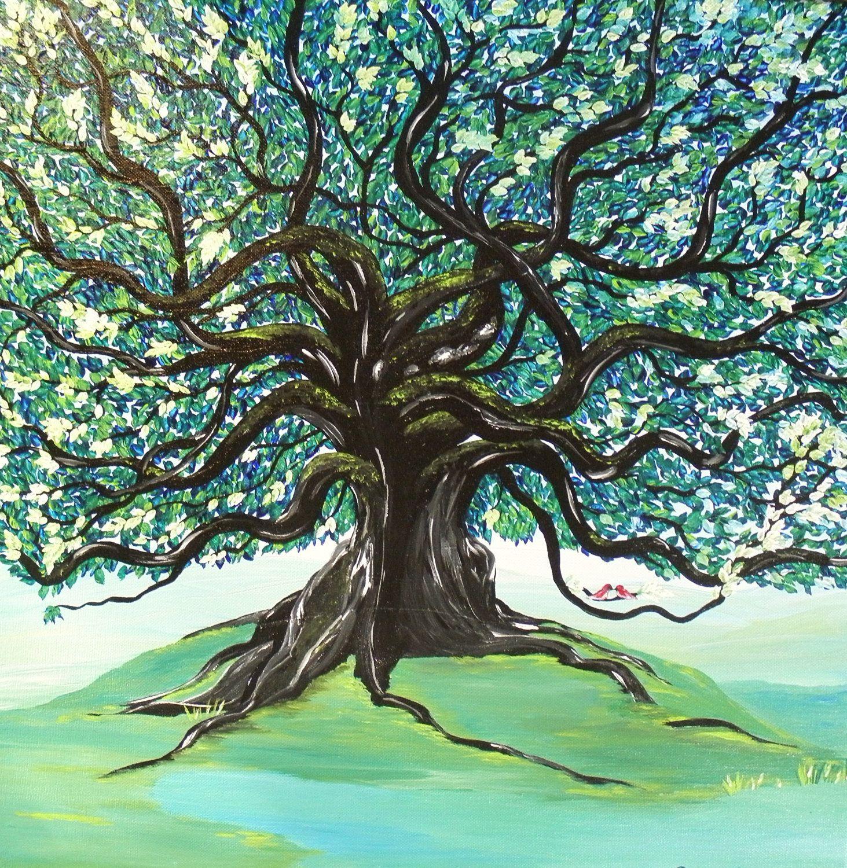 Original Painting - Live Oak Tree - Lovebirds   Oak tree, Google and ...