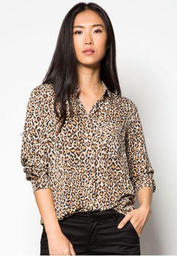 8bb5ac36de MANGO Leopard Print Shirt 豹紋印花恤衫