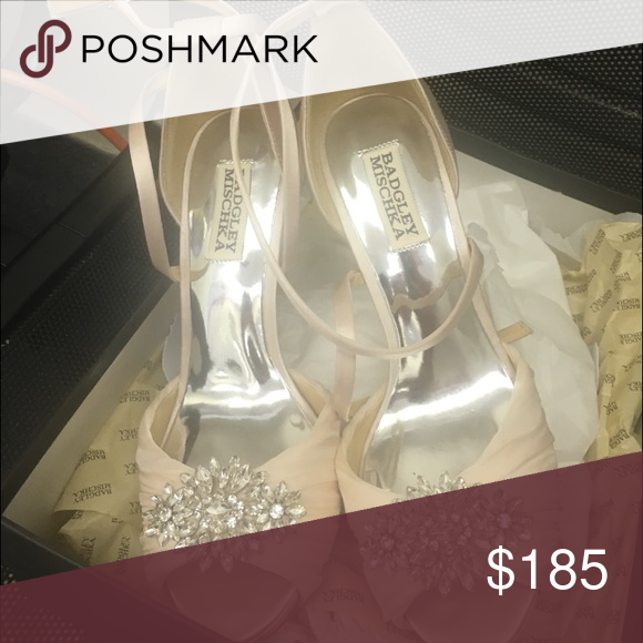 Badgley mischka blush pink heel Wore for my wedding just for pictures took off before church. Barely worn. Badgley Mischka Shoes Heels