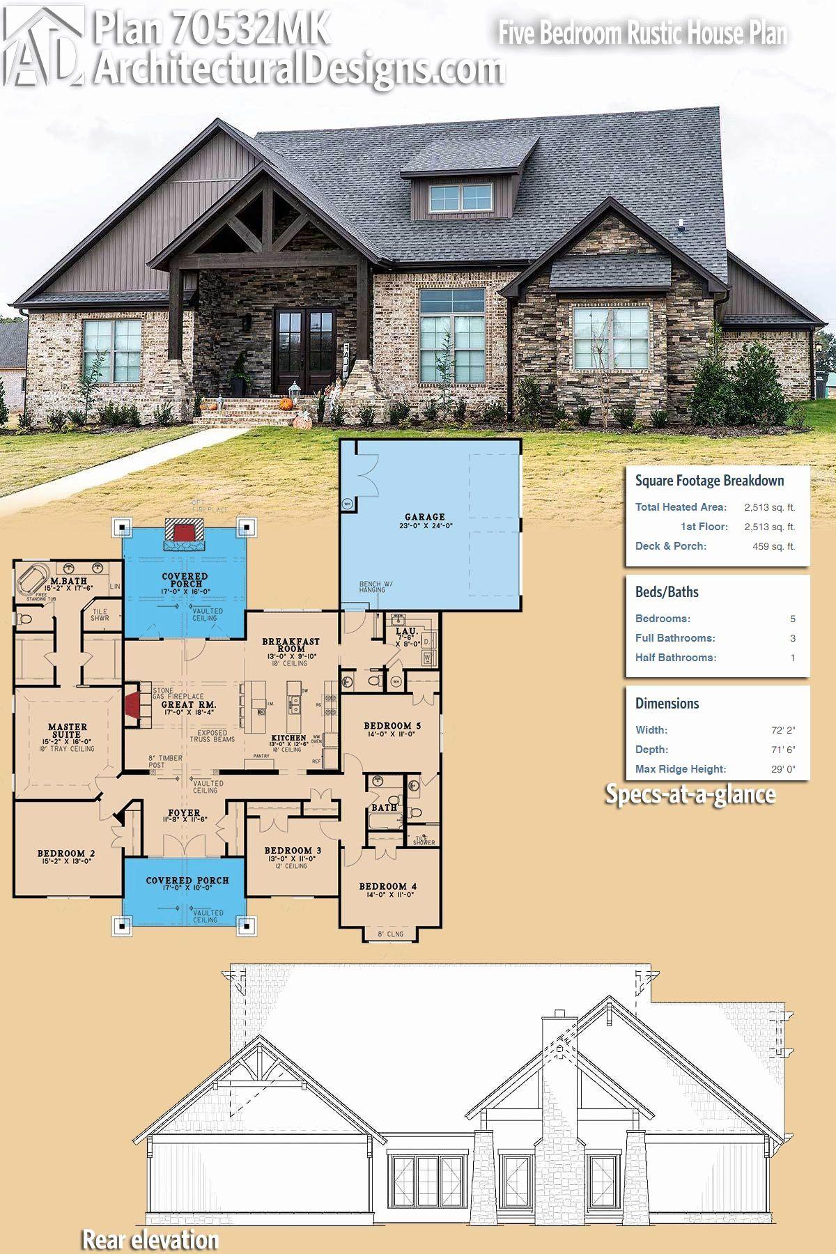 2500 sq foot house plans fresh plan mk five bedroom rustic