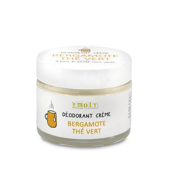 Déodorant crème Bergamote Thé Vert – Sans bicarbonate de soude – Bio & Vegan