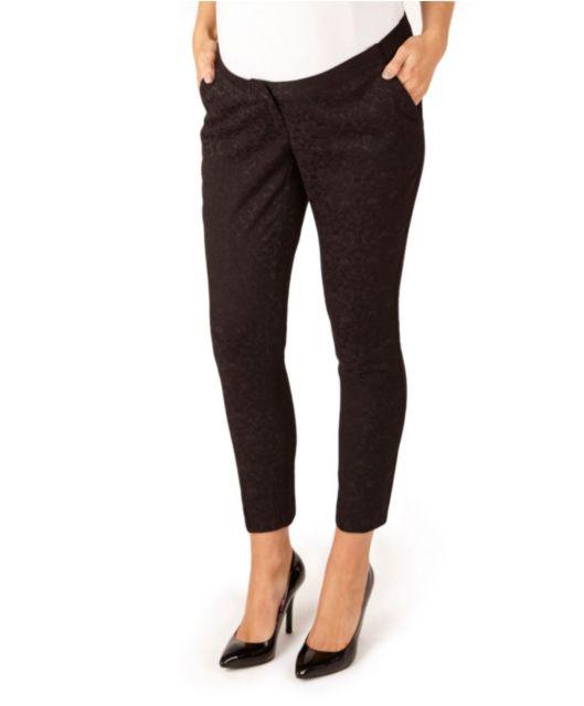 41e881fee8b48c Black Jacquard Trouser from Mamas & Papas #maternity   Maternity ...