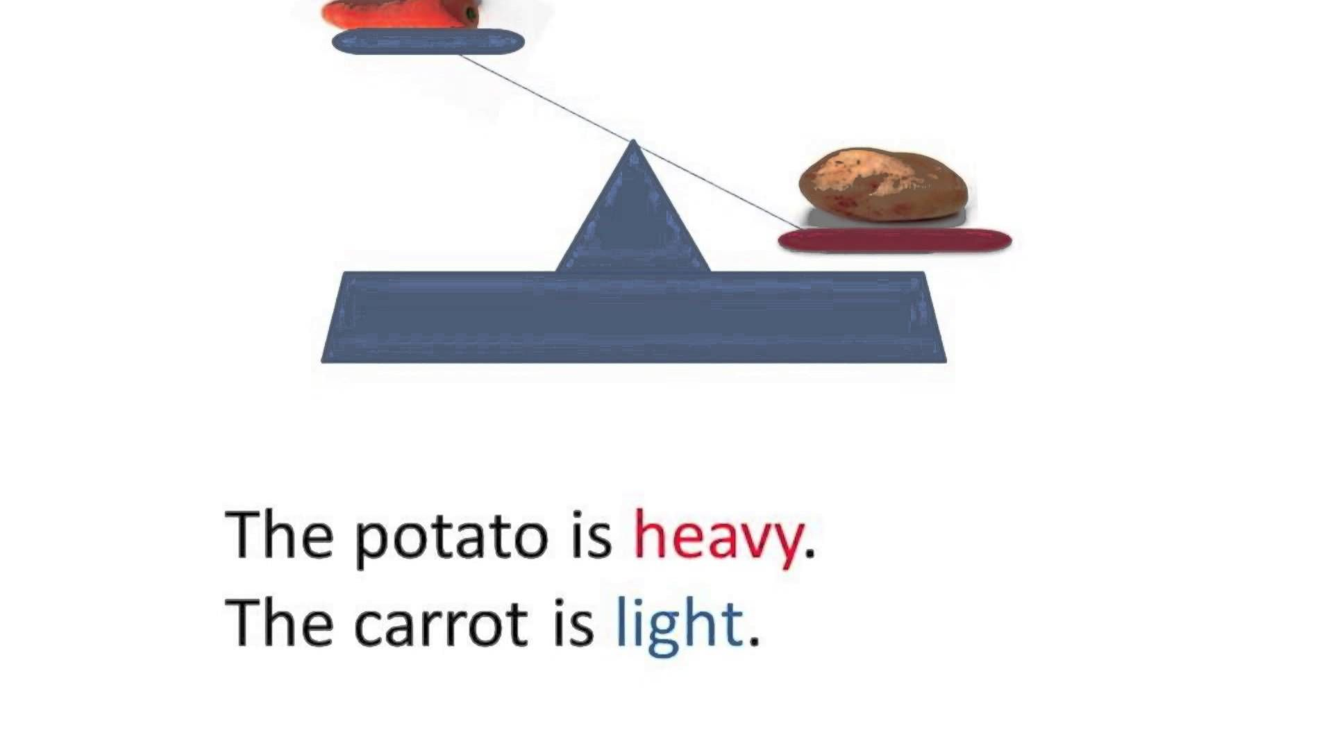 Short Video To Help Students To Understand Heavy And Light