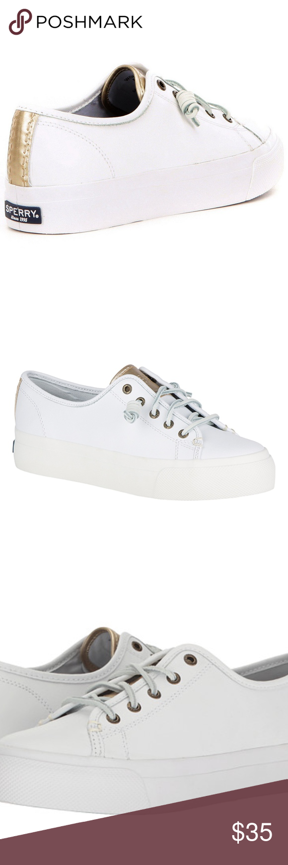 0404e4281a Women Sperry Sky Sail Leather White Gold Platform Women Sperry Sky Sail  Leather White Gold Platform