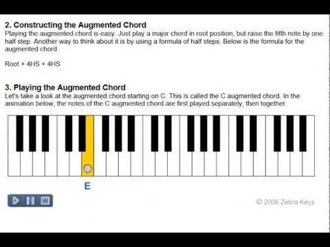 How To Play Piano Lesson 43 Augmented Chords How To Play Piano
