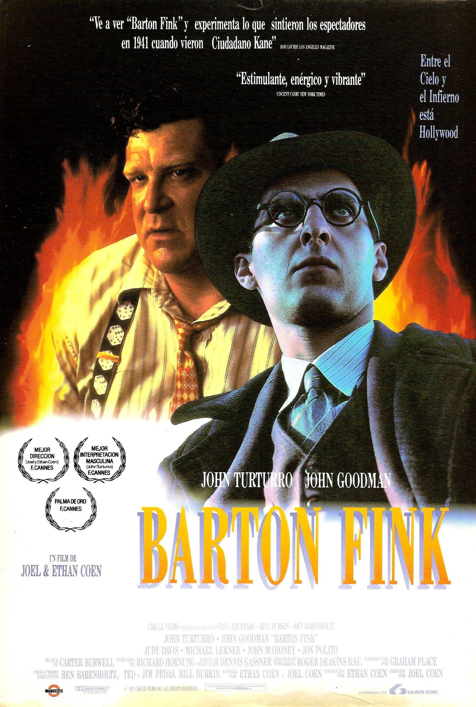 Barton Fink DVD Cover, DVD Label, Blu-Ray Cover, Blu-Ray