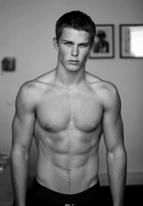 White guy with abs