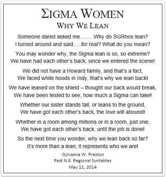 Why Sgrho Has A Lean Sigma Gamma Rho Sorority Incorporated