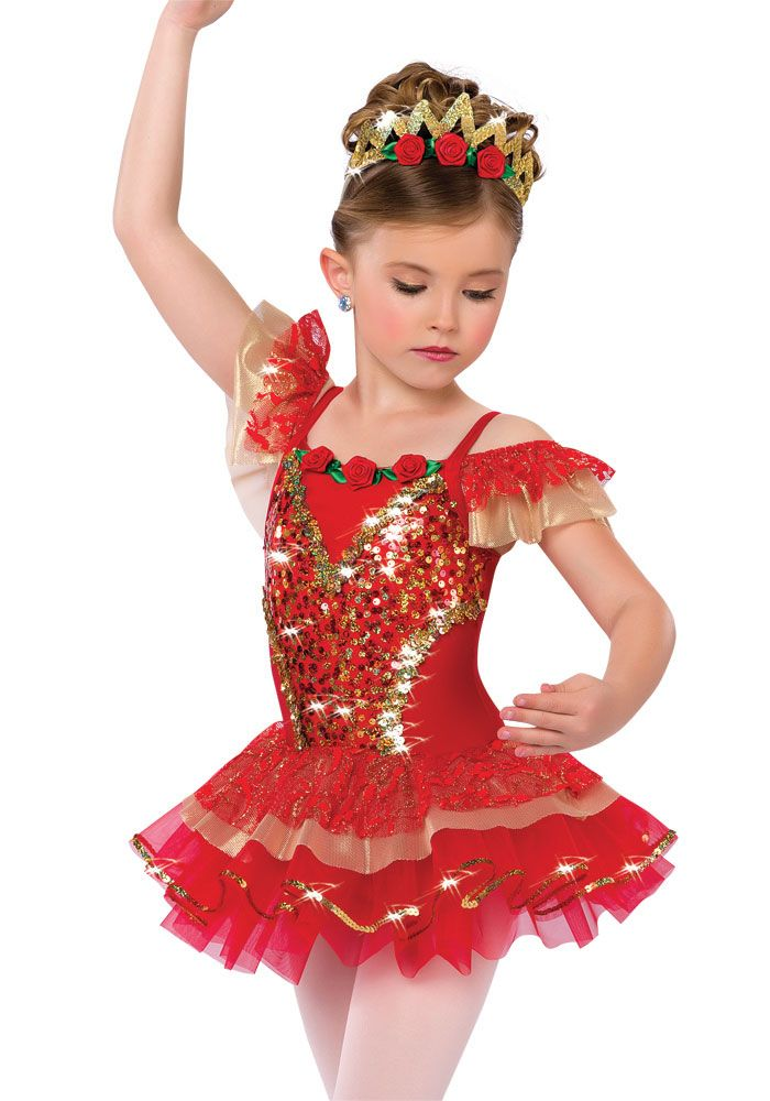 15931 Rose Adagio Christmas Dance Costumes Dance