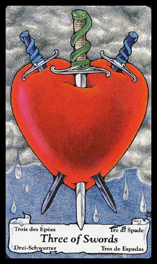 Tarot 3 Of Swords Google Search Tarot Three Of Swords Pinterest