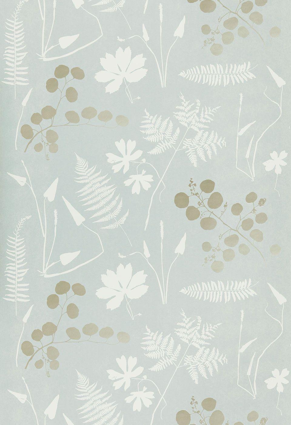 Modern Botanical Wallpaper