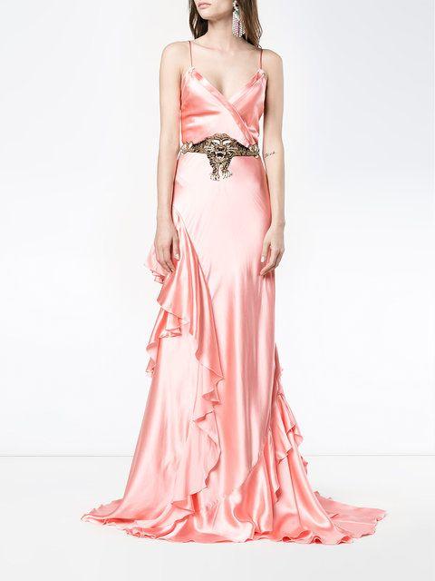 Gucci Ruffle Slip Gown Fashion Dresses Formal Pinterest