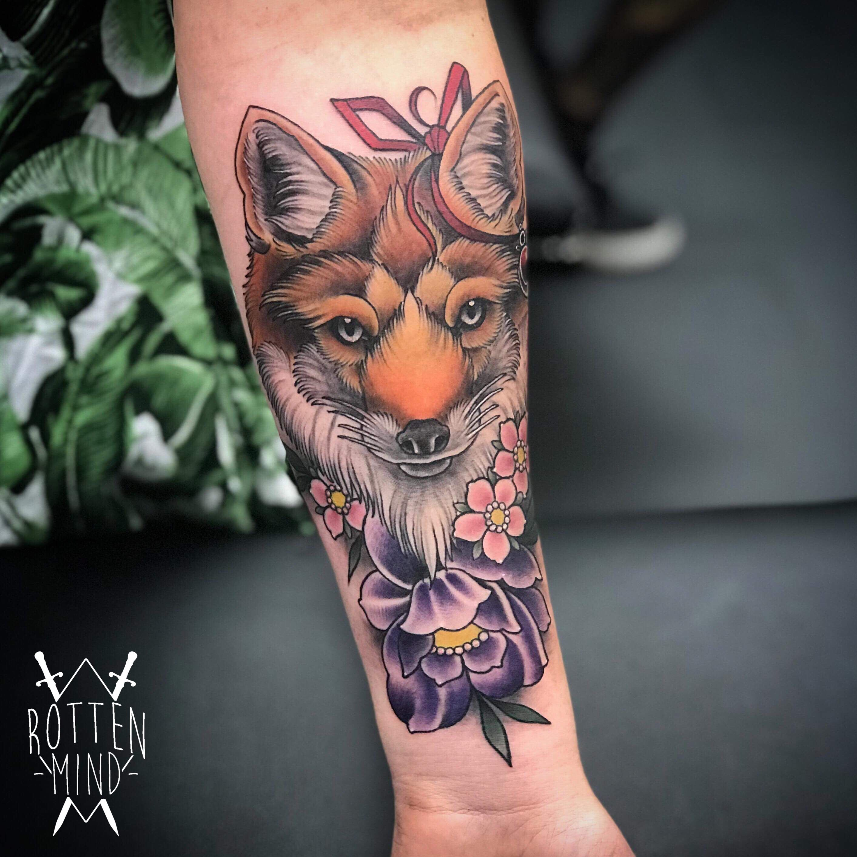 Neo Japanese Fox Tattoo Fox Tattoo Tattoos Japanese Fox