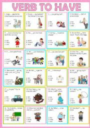 verb to be and to have exercises pdf