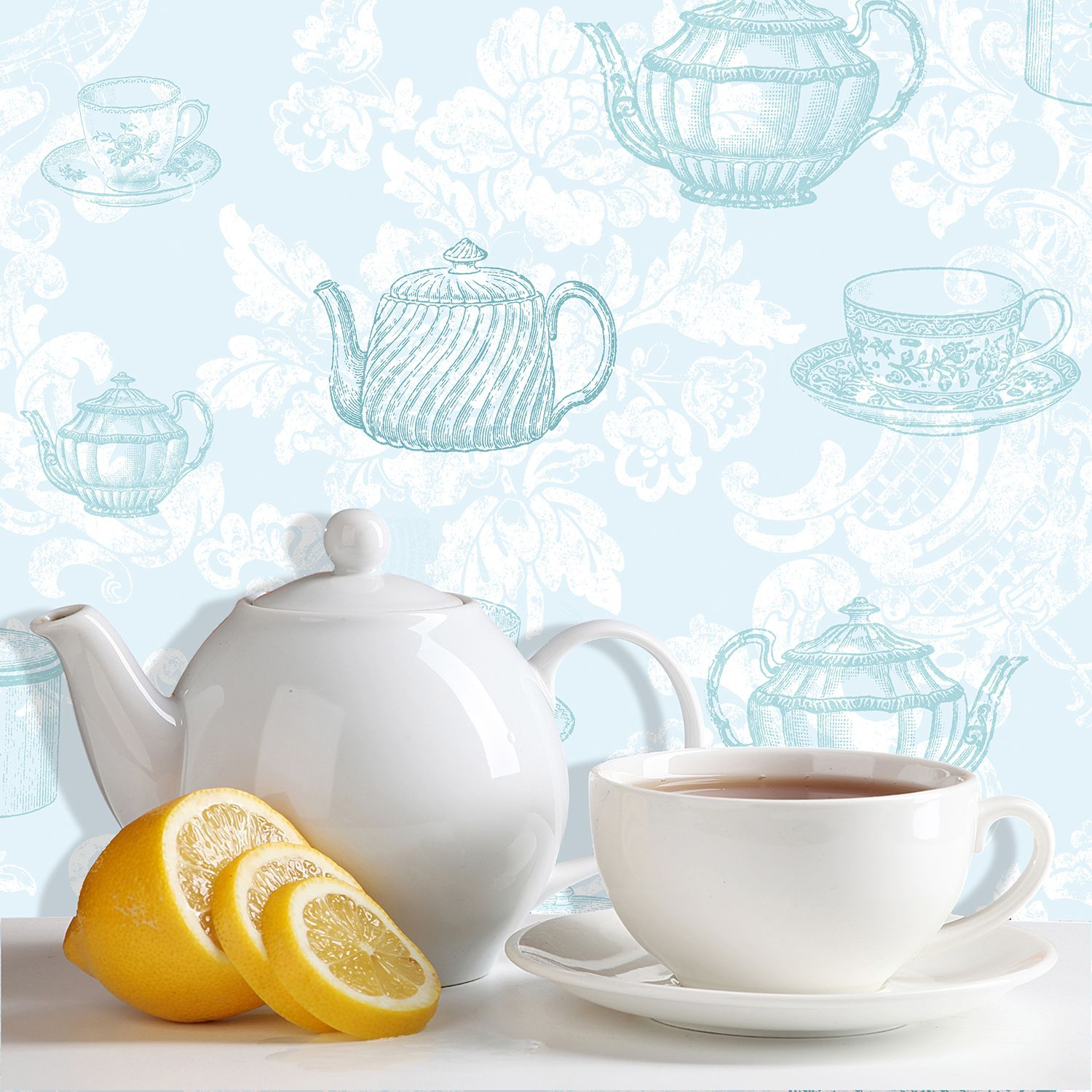 Teacups Duck Egg Wallpaper By Coloroll Things That Make Me Go