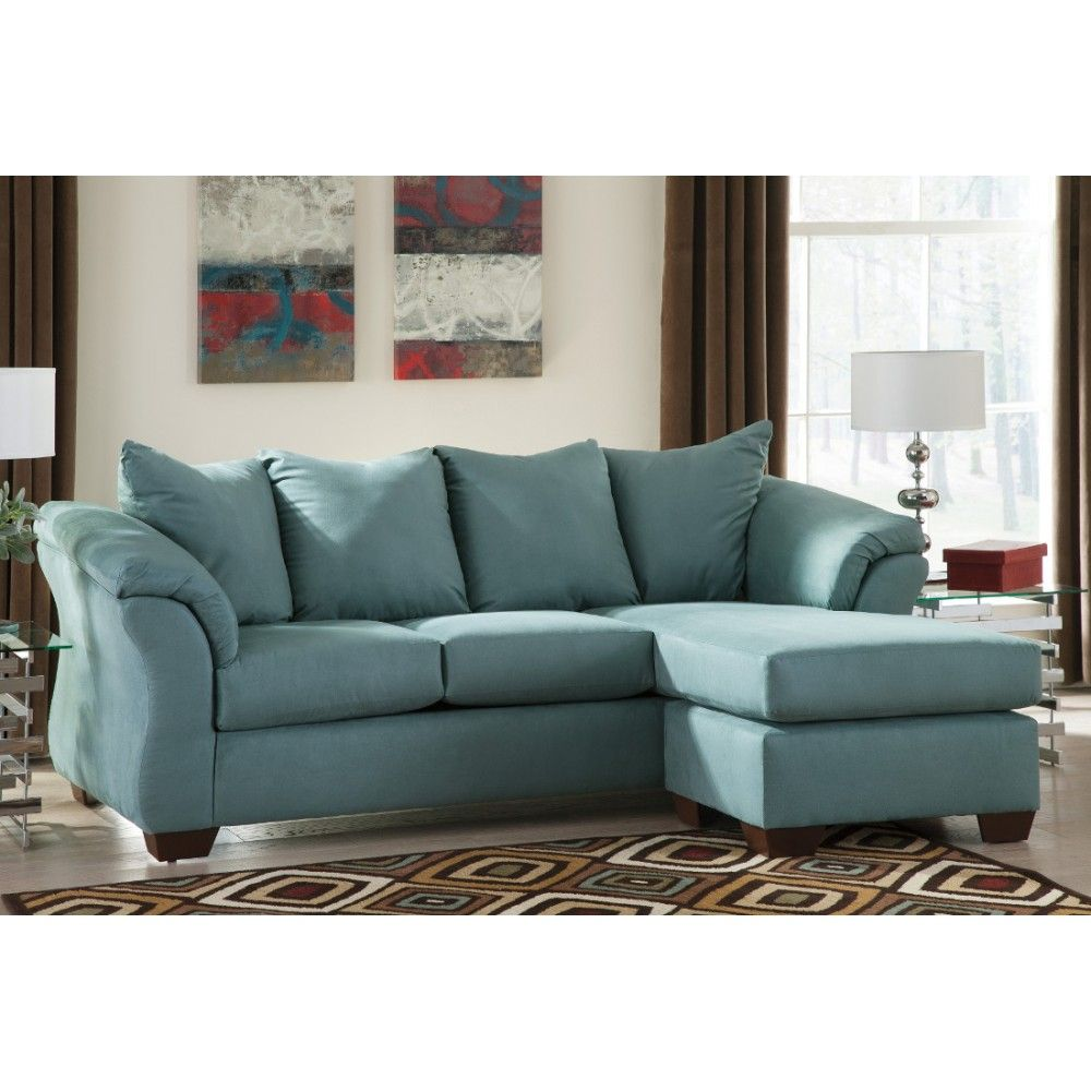 Ashley Furniture Darcy Sofa Chaise in Sky Space Saving Sectionals