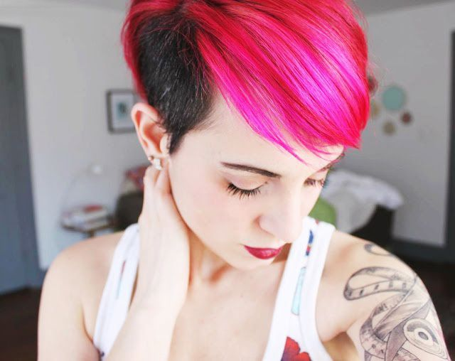 I Used To Have This Hair. Fuschia Pink Black Side Shaved