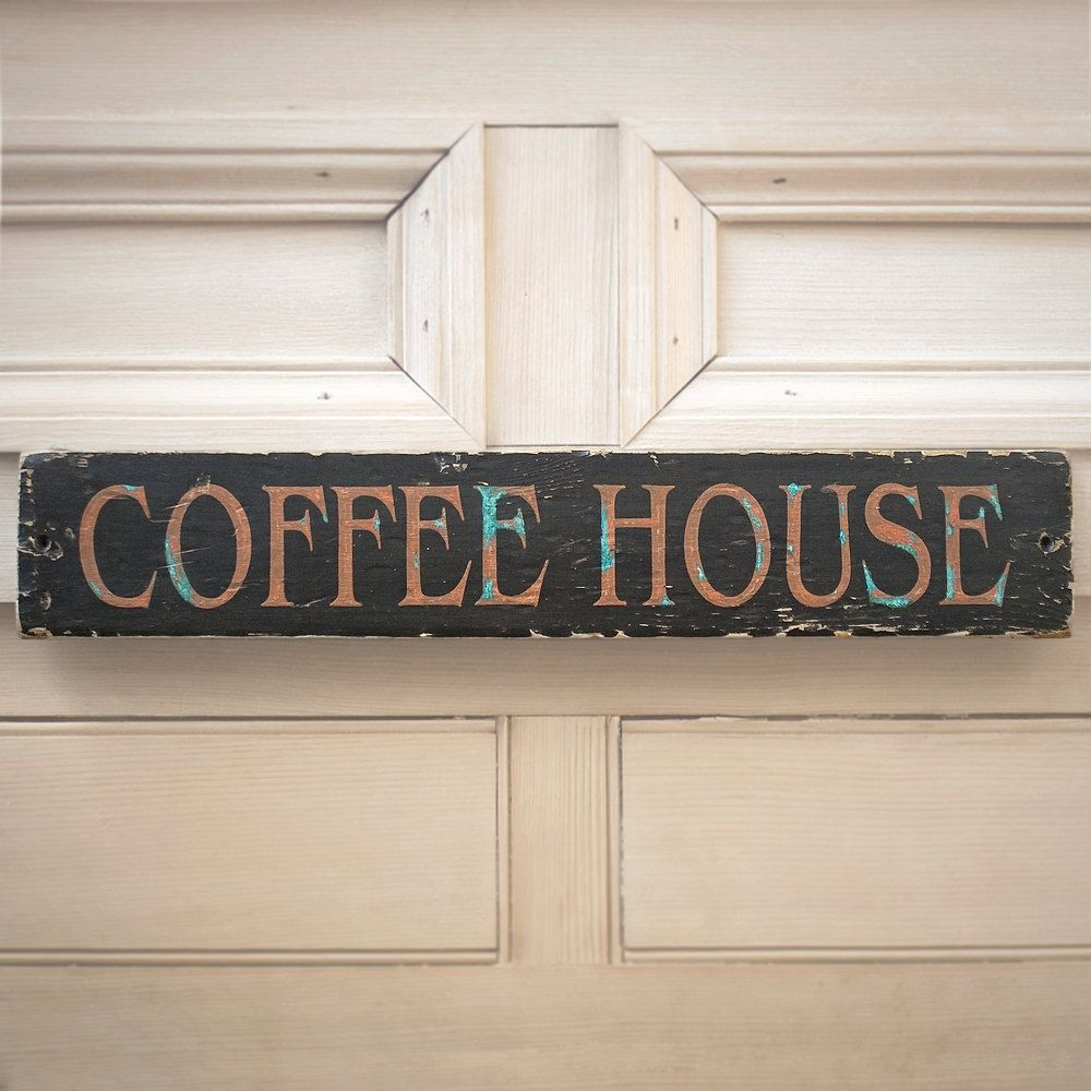 Wooden Signs Vintage Coffee