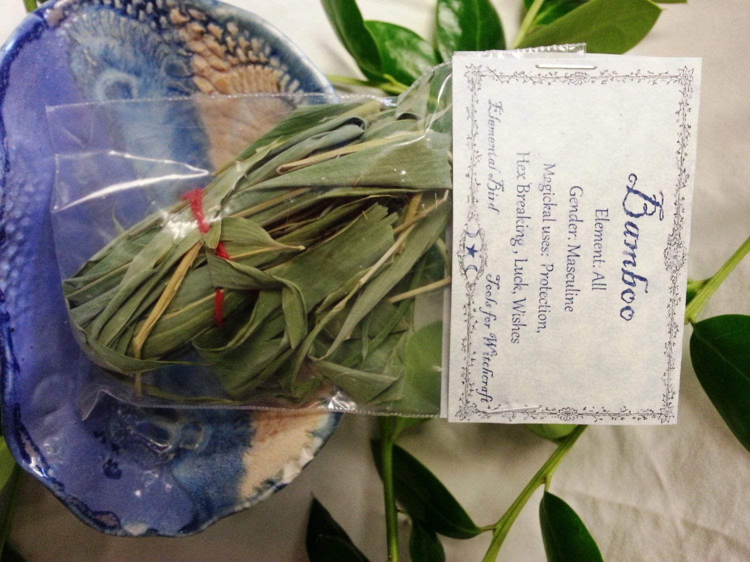 Dried Bamboo Leaves magick , Wicca, Greenwitch, Witchcraft, Hedge