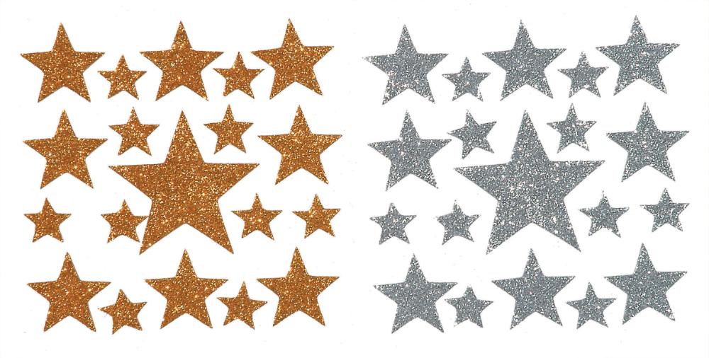 Darice Foamies Glitter Star Stickers Assorted Sizes 38 Pieces Walmart Com Gold Glitter Stars Star Stickers Glitter Stars