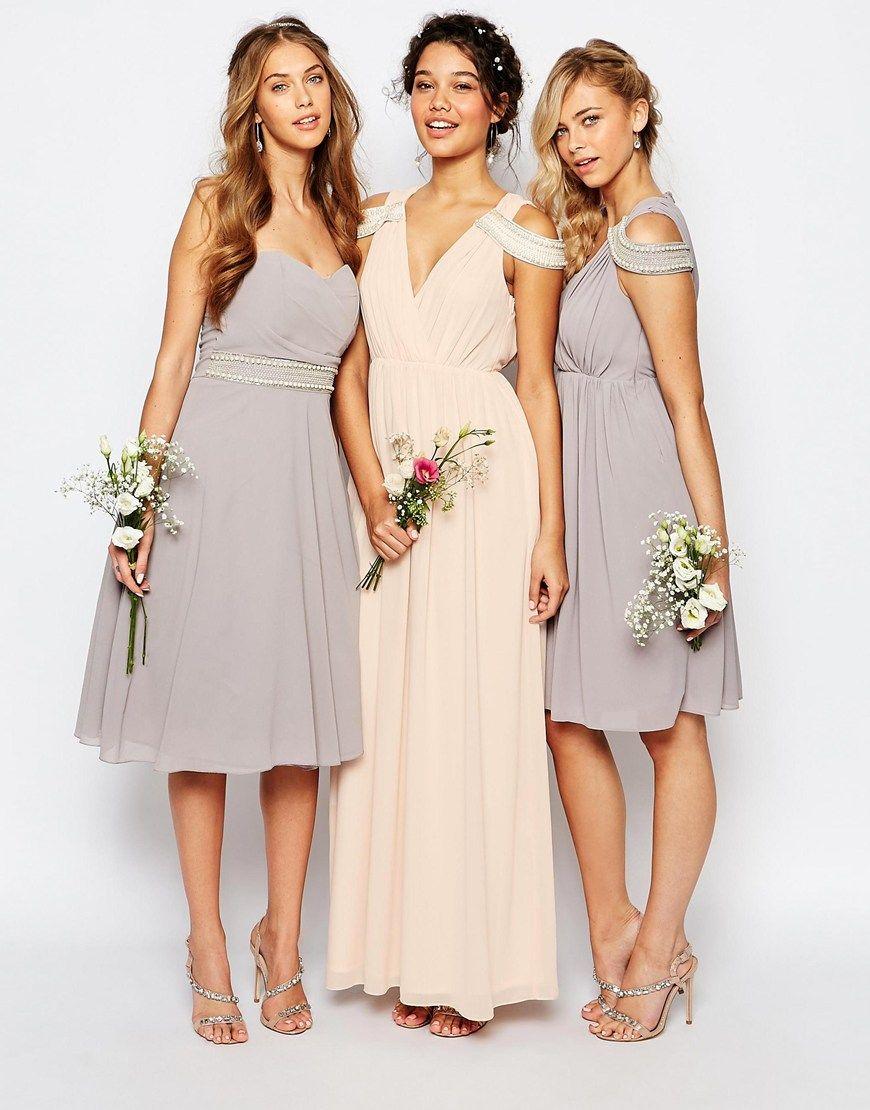 Image 3 of tfnc wedding cold shoulder wrap front maxi for Tfnc wedding wrap maxi dress