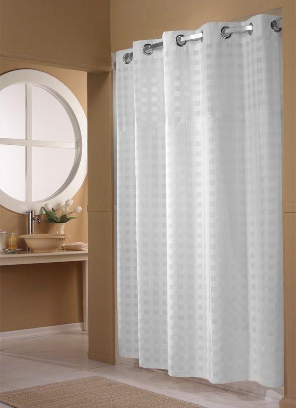 Hilton Basketweave Hookless Shower Curtain Hookless Shower