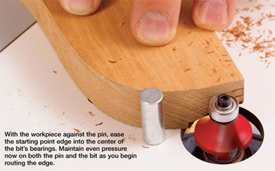 Router Table Starter Pin Makes Routing Smoother