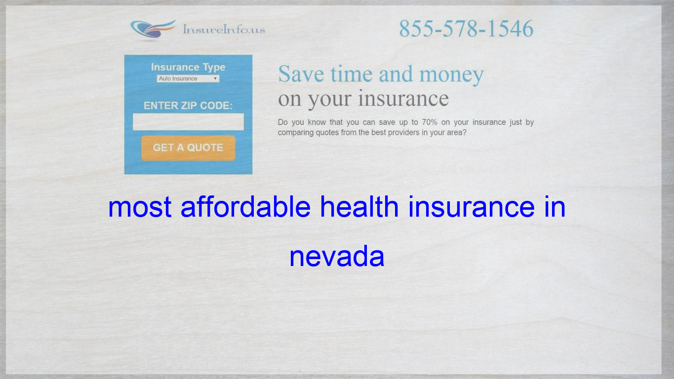 most affordable health insurance in nevada Life