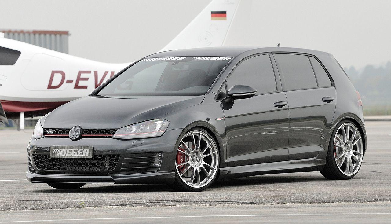 New Rieger Tuning Vw Golf 7 Gti Gti Mk7 Car Volkswagen
