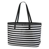 Is it weird to be obsessed with a diaper bag if you are childless?! This would make such an awesome work/laptop bag...  Found it at DwellStudio - MINI STRIPE INK MADISON DIAPER BAG