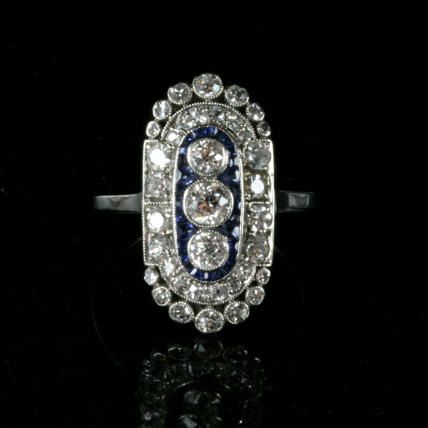 a platinum rings from art diamond engagement deco image bands ring set style