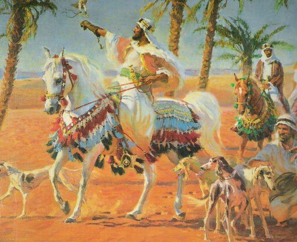 Bedouin sheik on Arabian Horse