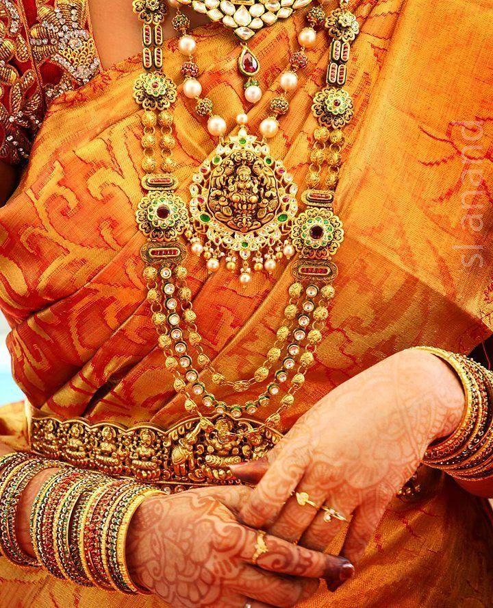 Lakshmi Pendant Temple Jewellery Designs Temple Goddesses and Chains