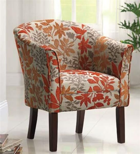 Swell Coaster Furniture Beige Orange Fabric Accent Chair In 2019 Pdpeps Interior Chair Design Pdpepsorg
