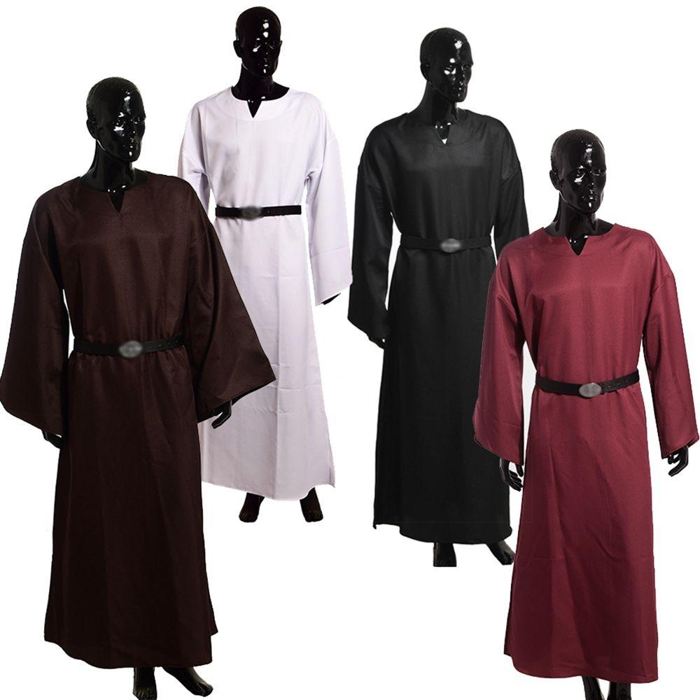 Adulte Hommes Médiévale Robe Wicca Pagan Rituel Robe Cape Clergé ...