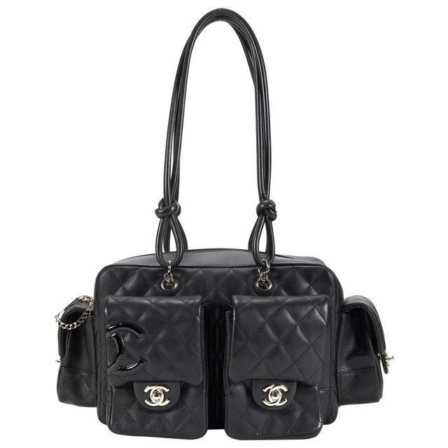 f940c79ec1ba06 black Plain Leather CHANEL Handbag - Vestiaire Collective   Chanel ...