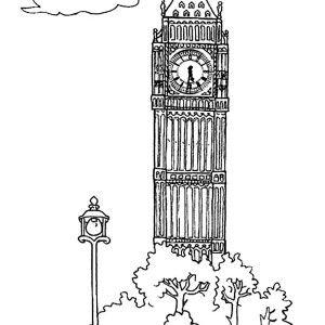 Big Ben Upper Big Ben Tower Coloring Page Tower Of Big Ben Coloring Page The Palace Of Westminster Big Ben Coloring Big Ben Big Ben London London Landmarks