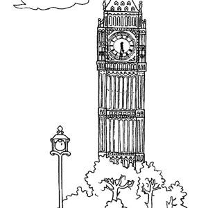 Big Ben Big Ben For Tourism Coloring Page Big Ben For Tourism