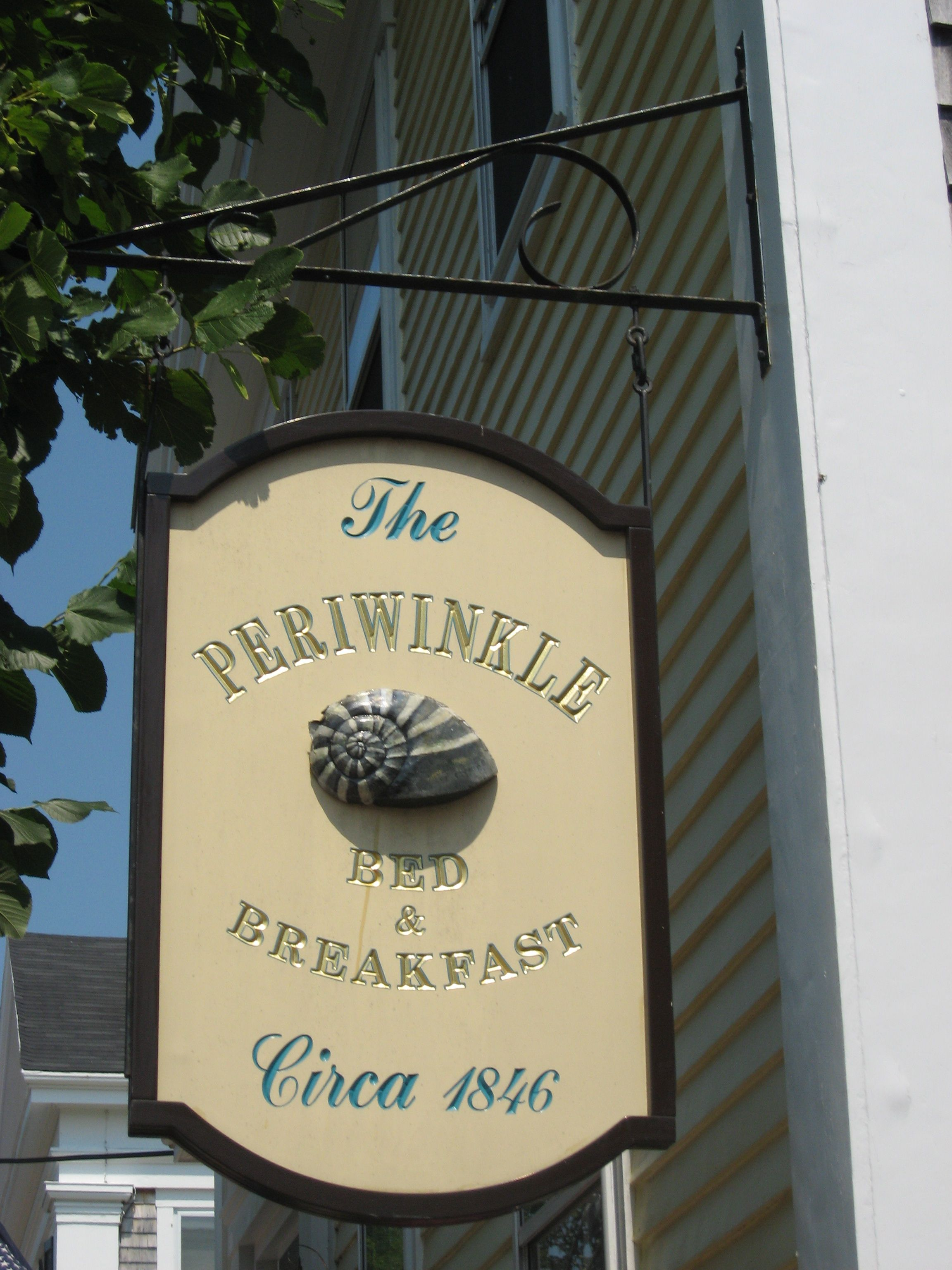 The Periwinkle Inn sign... Photo Betsy Spencer