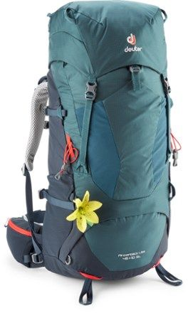 Deuter Women S Aircontact Lite 45 10 Sl Pack Maron Graphite Carry On Size Carry On Luggage Backpacking