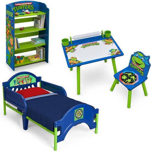 Sensational Toddler Bedroom Set Mutant Ninja Turtles Boys Bed Bookshelf Ibusinesslaw Wood Chair Design Ideas Ibusinesslaworg