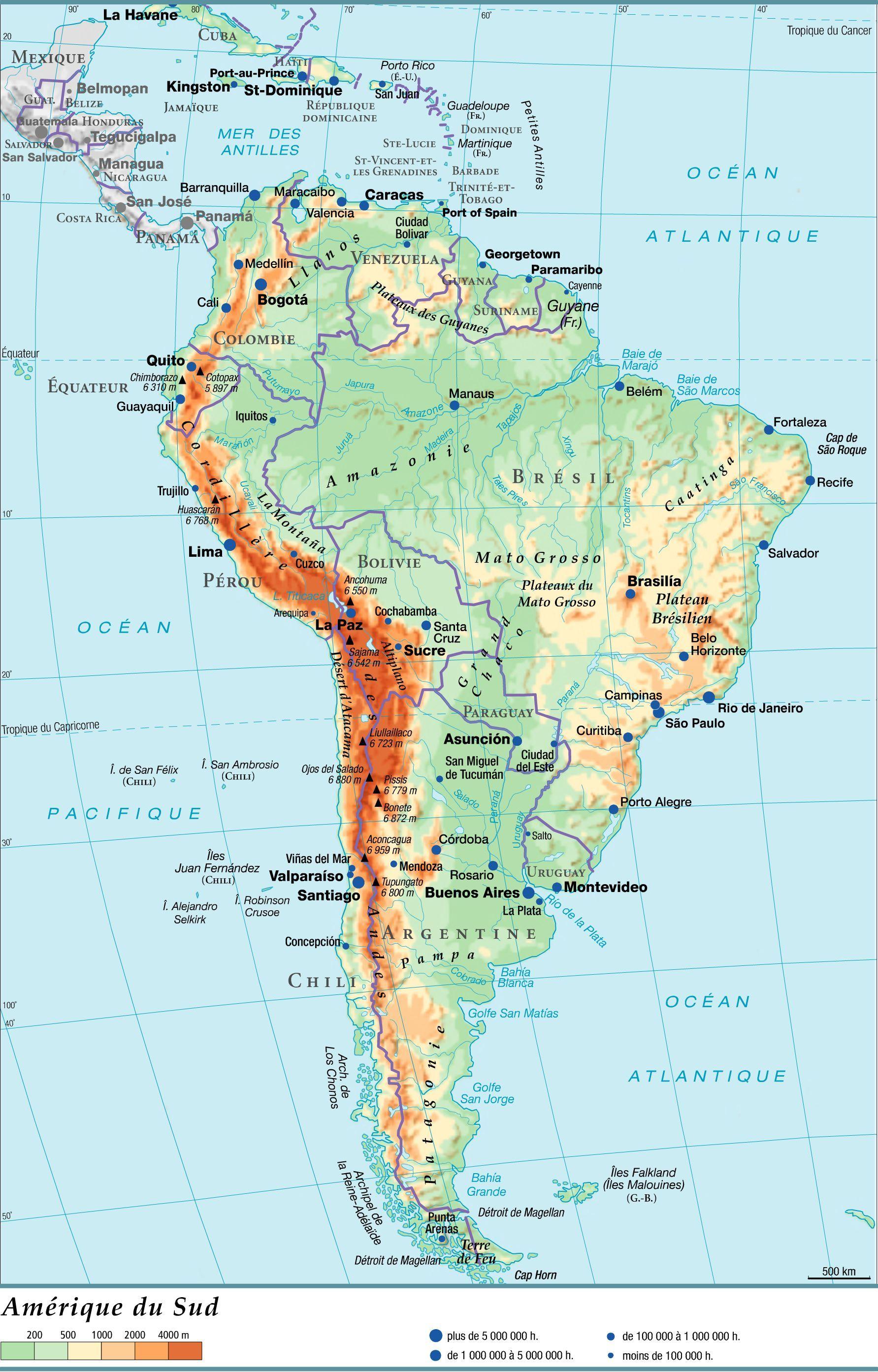 Carte Amerique Du Sud Carte Amerique Amerique Du Sud San Salvador
