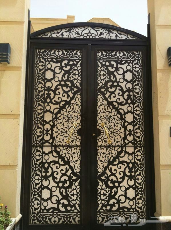 ابواب بوابات ليزر قص ليزر حديد 0530608113 Entrance Door Design Door Gate Design Steel Door Design