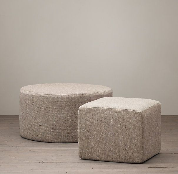 Swell Hand Knotted Solid Flatweave Pouf Dimensions Round 32 Diam Gmtry Best Dining Table And Chair Ideas Images Gmtryco