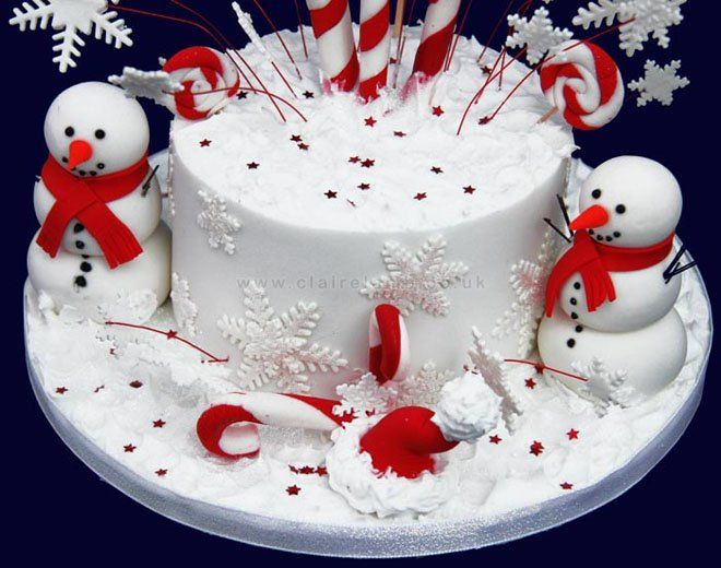 Amazing 10 Cute Christmas Cake Ideas You Must Love Mit Bildern Personalised Birthday Cards Veneteletsinfo