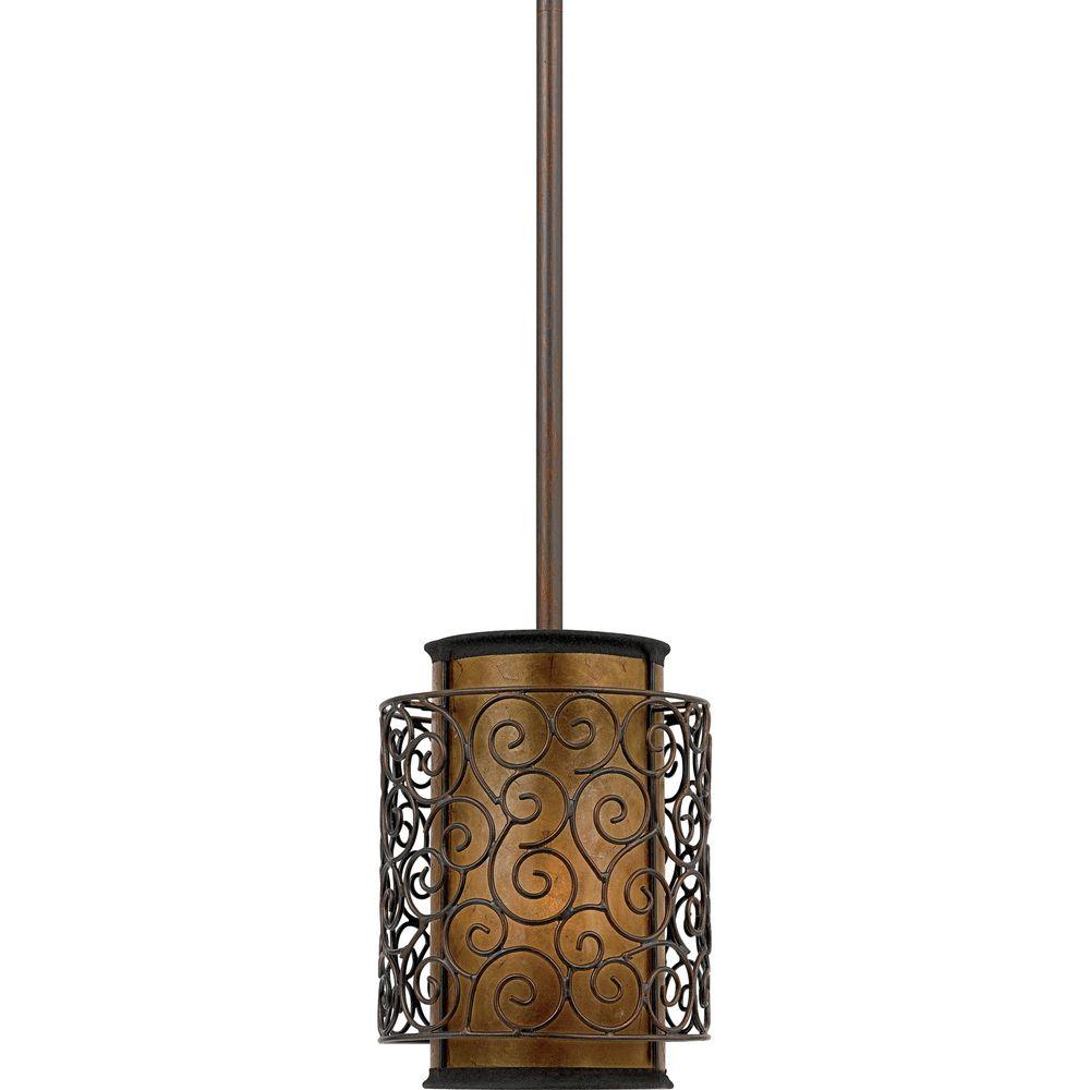 Quoizel 'Mica' 1-light Mini-pendant - Overstock™ Shopping - Great Deals on Quoizel Chandeliers & Pendants 159.99