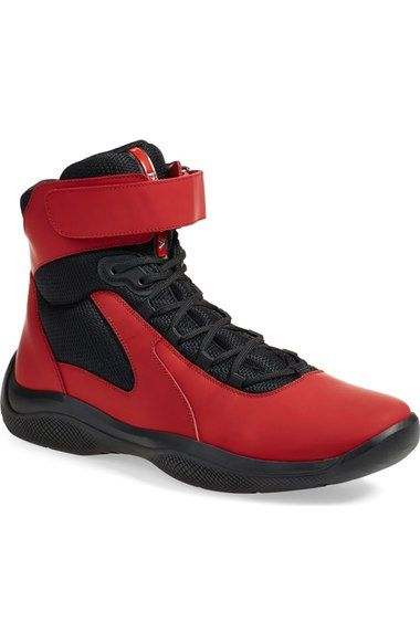 cdcb69d8ca Prada  Punta Ala  High Top Sneaker (Men) (Nordstrom Exclusive) available at   Nordstrom