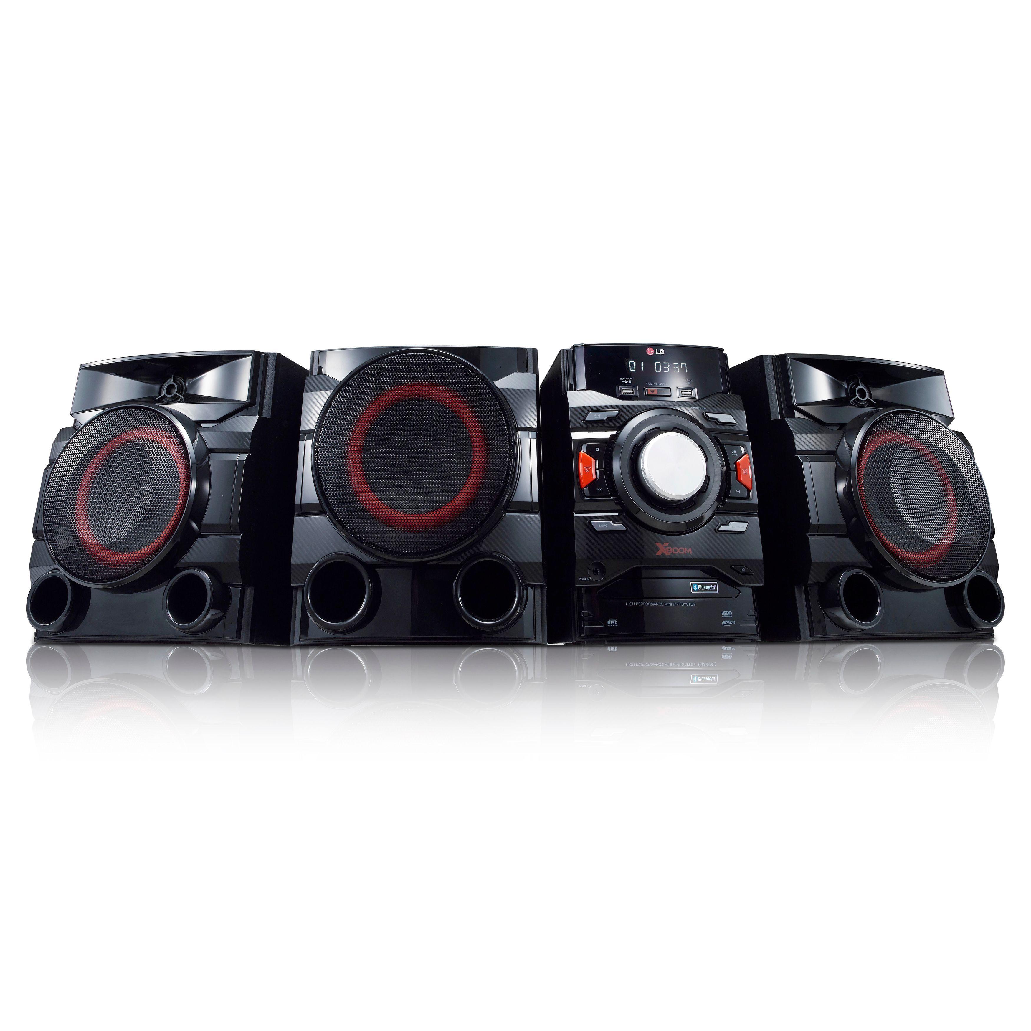 LG CM4550 Portable 700W 2.1-channel Bluetooth Audio DJ Red