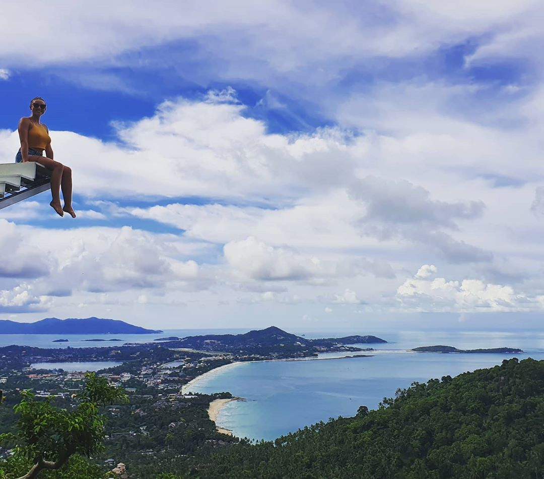 Head's in the clouds ☁️ #heartshaped #heartshapedmountain #heartshapedsea #kohsamui #travel #travelgram #travelblogger #...